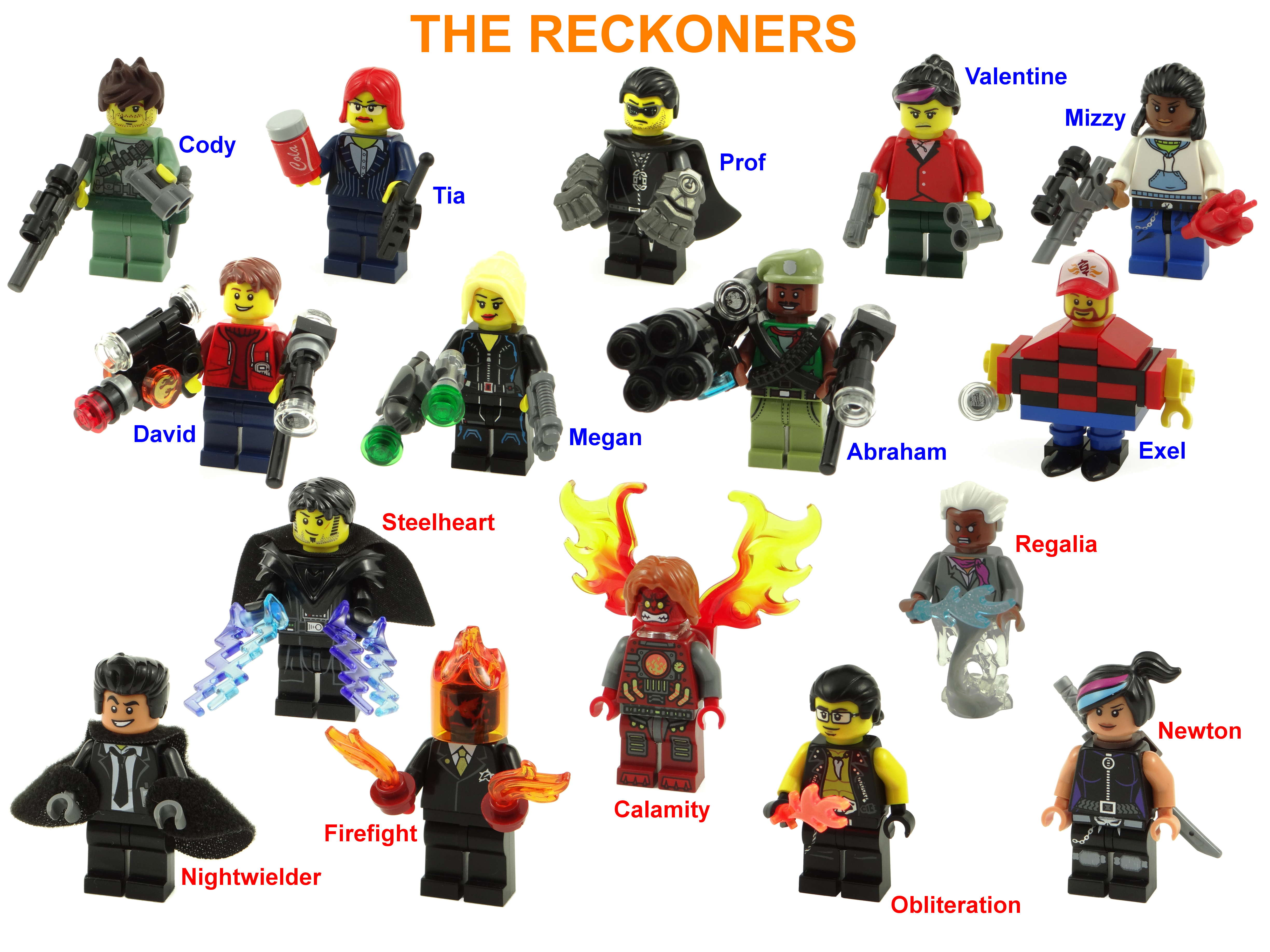 Reckoners characters fan art